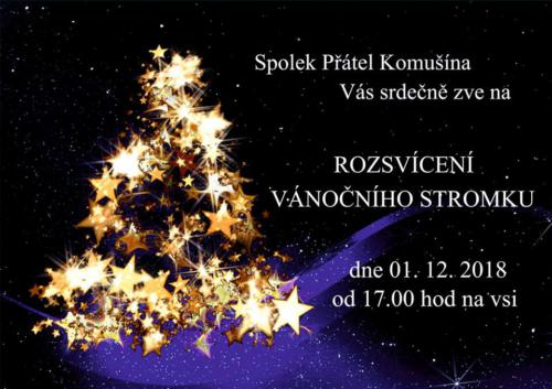 Rozsvícení vánočního stromku 2018